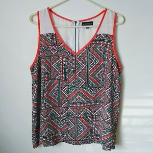 My Michelle Patterned Sleeveless Blouse